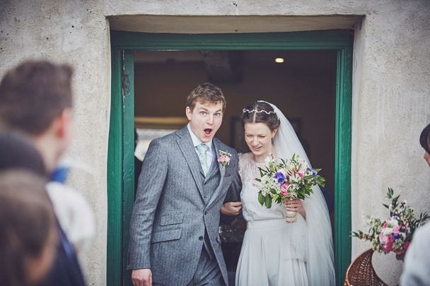 confetti photo at River Cottage HQ wedding photography Somerset