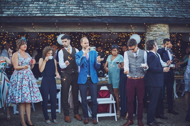 relaxed wedding photography of evening at Kingston Estate Devon