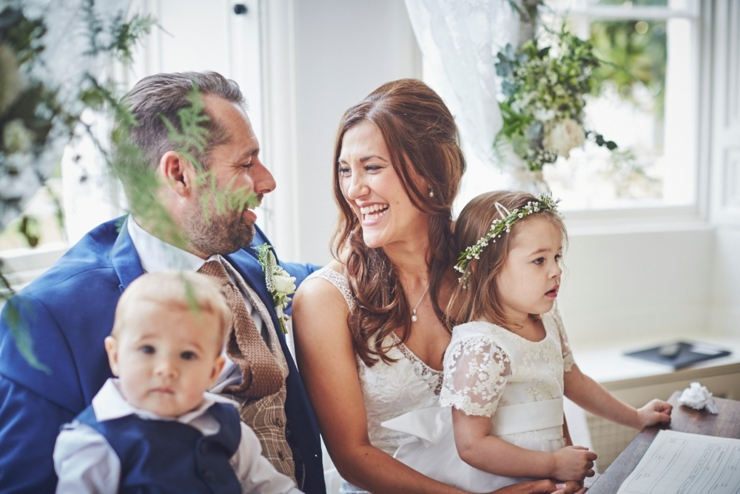 wedding ceremony at Rockbeare Manor wedding Devon