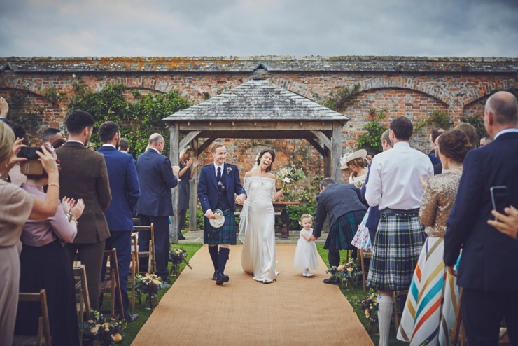 just married at Kingston Estate Devon