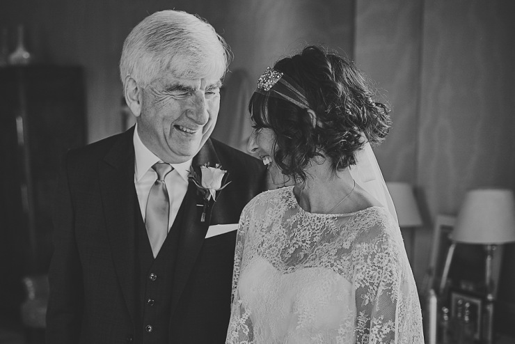 proud father of the bride relaxed wedding photography Babington House Somerset