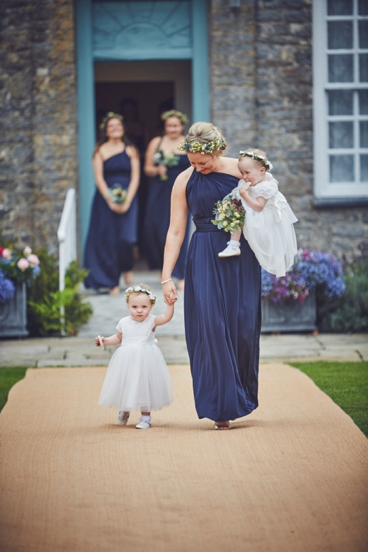 candid photography of brides preps at a Kingston Estate wedding in Devon