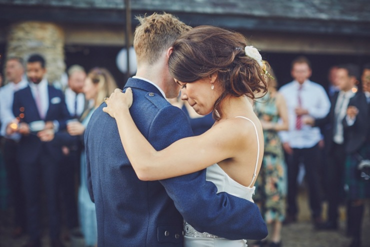 first dance wedding photography at Kingston Estate Devon