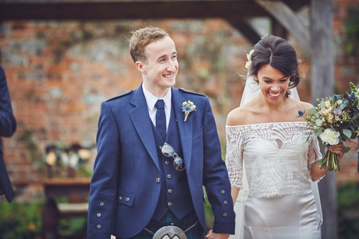 just married Kingston Estate wedding photography Devon