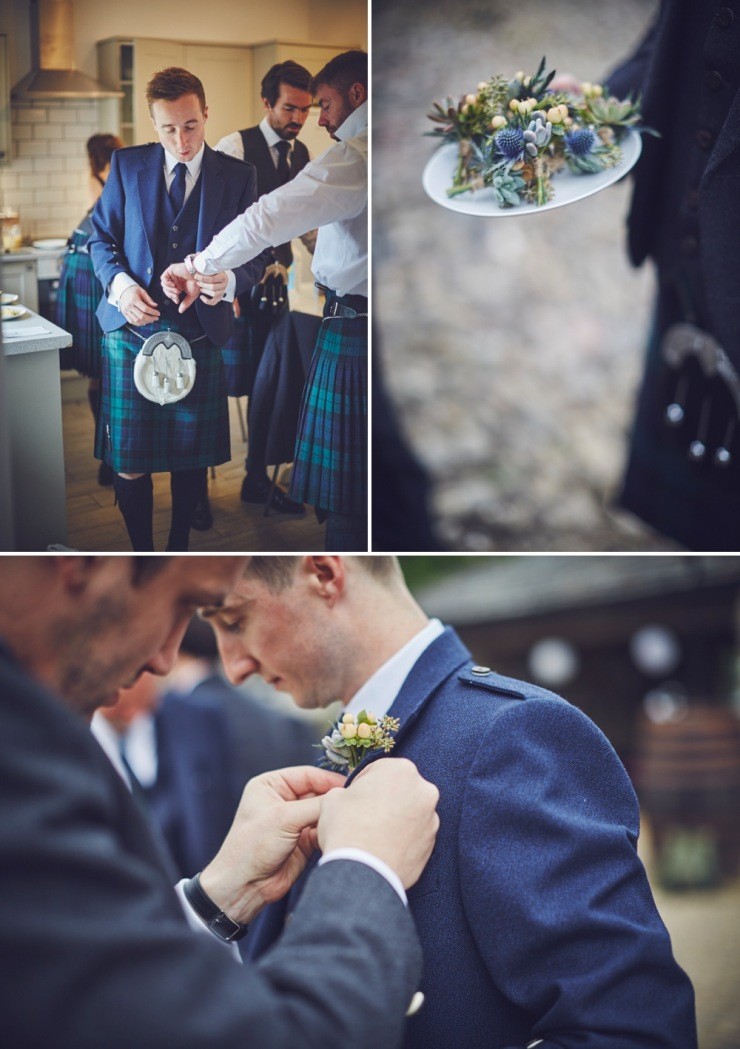 grooms preps Kingston Estate wedding photography Devon