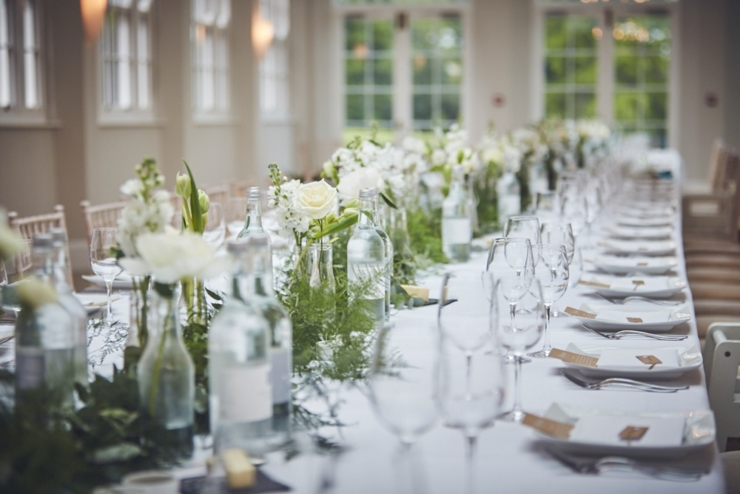 photography of wedding styling at Rockbeare Manor Devon
