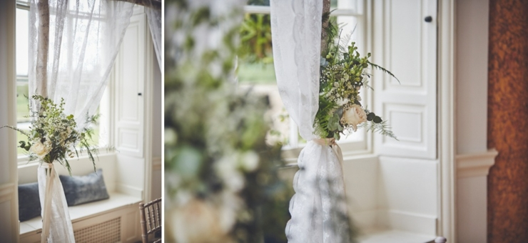 lace detail styling at Rockbeare Manor wedding ceremony Devon