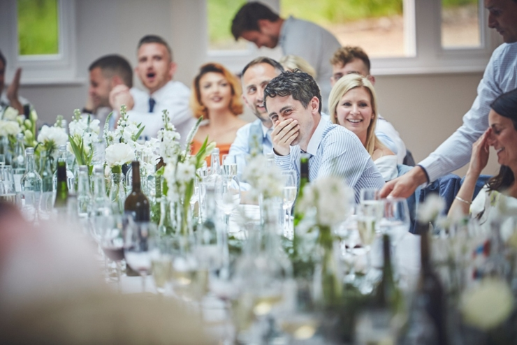 photography of speeches at Rockbeare Manor wedding Devon